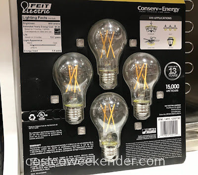 Costco 1232736 - Feit Electric 60w Crystal Clear Filament LED: great for any home