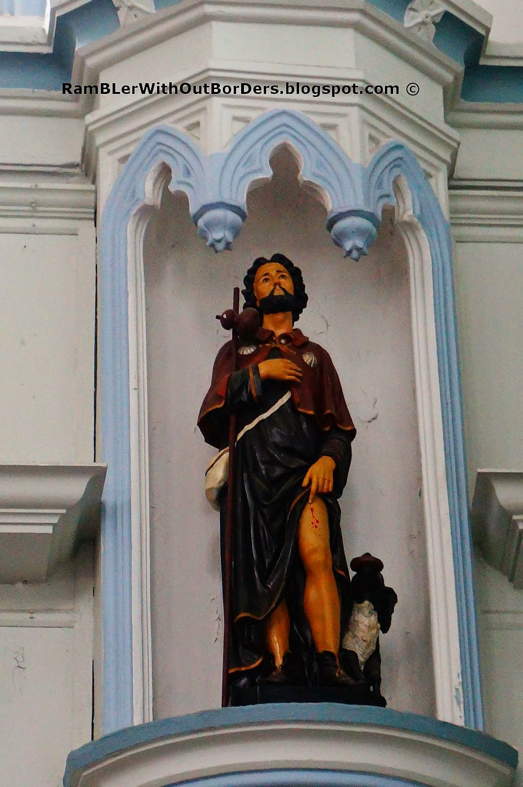 statue, St Joseph's Church, Victoria St, Singapore