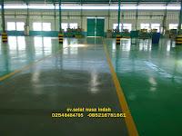 spesialis epoxy lantai pabrik baja