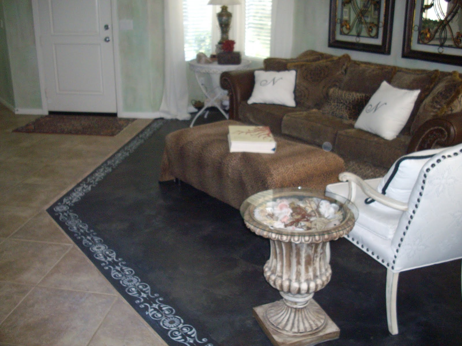 Anythingology step by step instructions on how to prep - Concrete floor living room ...