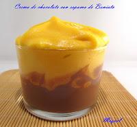Menú de la Castanyada 2011.Crema de chocolate con espuma de Boniato