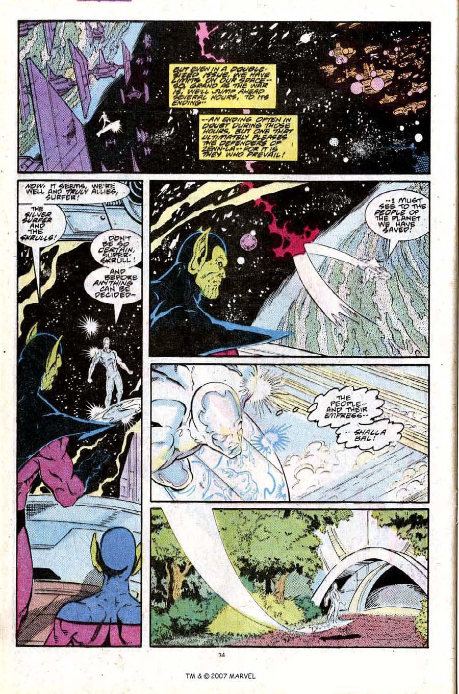 Read online Silver Surfer (1987) comic -  Issue #25 - 36