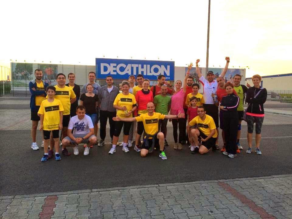 Maraton Arad 2014. Un eveniment REUŞIT în ciuda tuturor dificultăţilor. Decathlon Timişoara