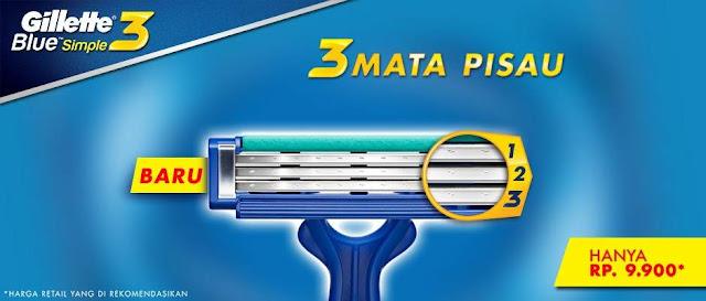 Gillette MACH3® Turbo memiliki tiga mata pisau