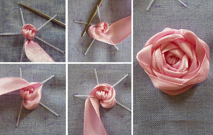 Паутинка вышивка розы