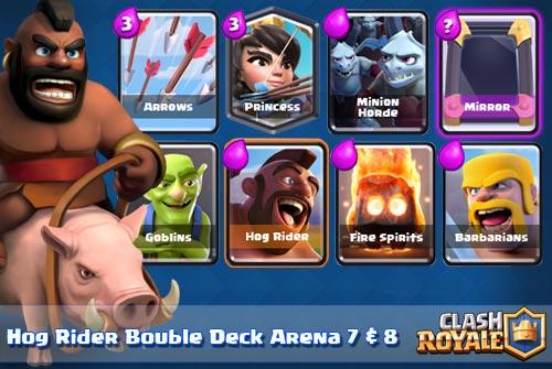 Deck Hog Rider Arena 7 8 Clash Royale