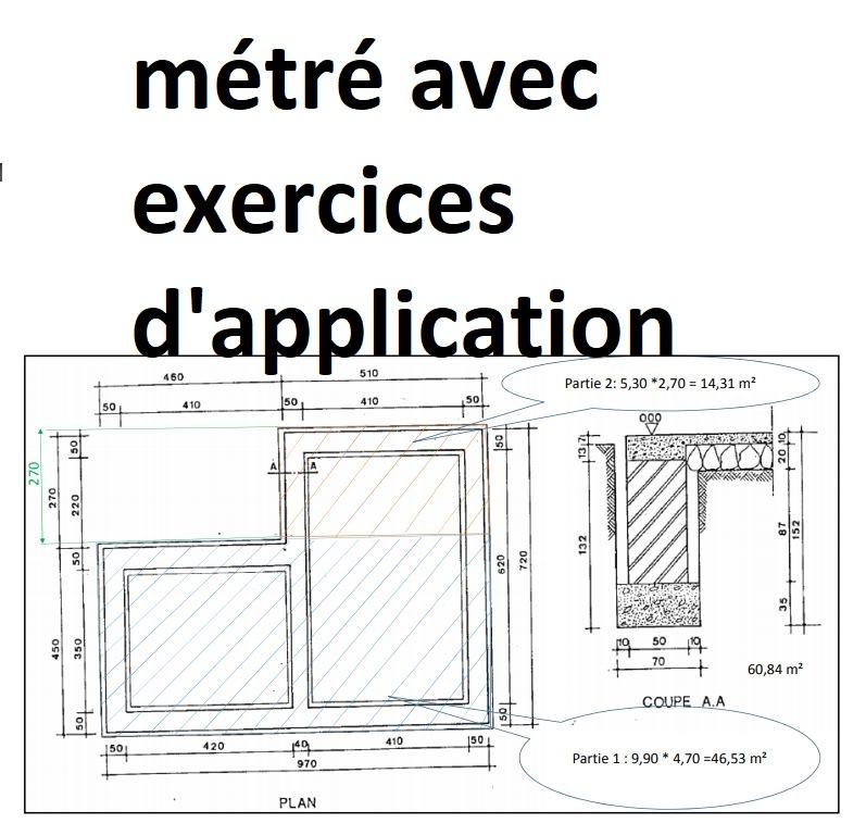 Cours calcul m tr b timent avec exercices d 39 application for Cours construction batiment pdf