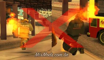 gta sa mod fireman fireproof fire fogo bombeiros fix