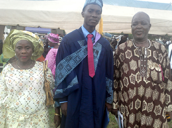 Work well done: the son of a security guard Arowosegbe Michael Aderibigbe emerges LASU's Best graduating student 2016