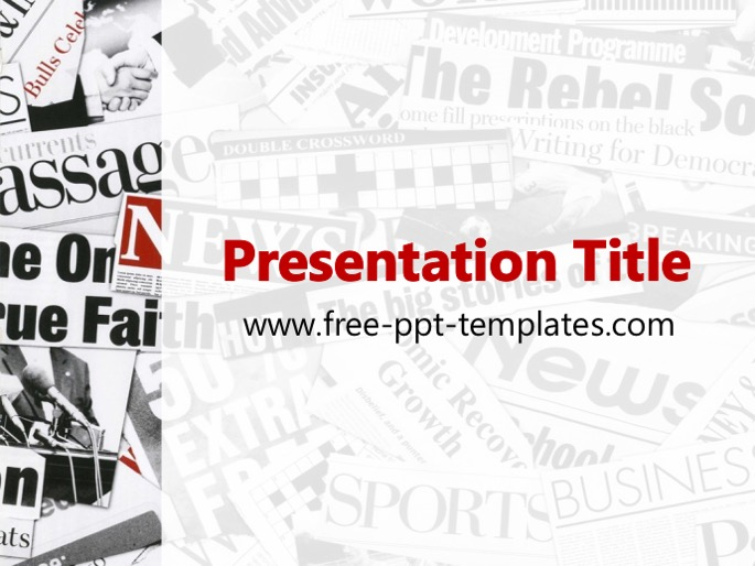 Newspaper ppt template toneelgroepblik Image collections