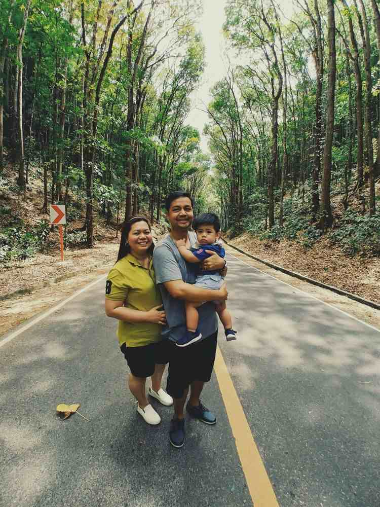 We had our photo taken at the man-made forest in Bohol