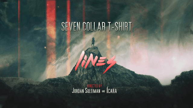 Seven Collar T-Shirt, Lines, Laguna Music,