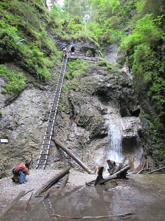 Słowacki Raj - Suchá Belá. Wodospad Okienkowy (słow. Okienkový vodopád).