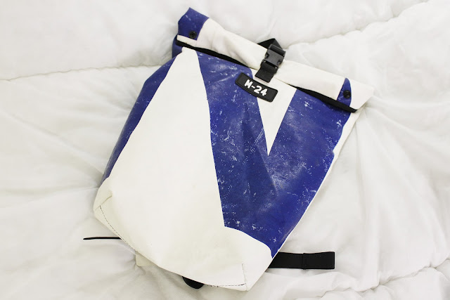m-24 review, m-24 bag review, tarpaulin backpack, recycled tarpaulin bags, tarpaulin backpack review, recycled backpacks review, m-24 shop, mat dusting shop, recycled backpacks uk, tarpaulin backpack