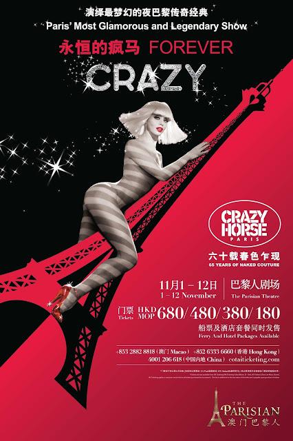 Sands Lifestyle Presents Crazy Horse Paris 'Forever Crazy' at The Parisian Macao