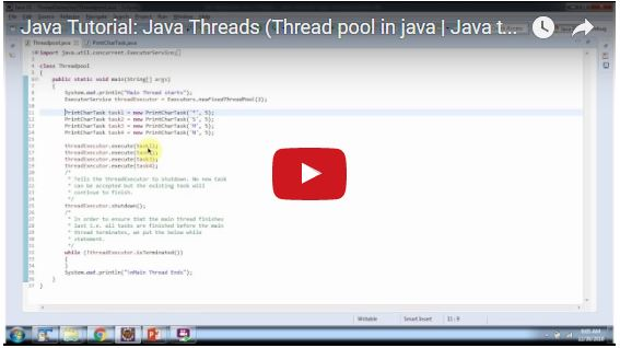 Java ee for Thread pool design pattern java
