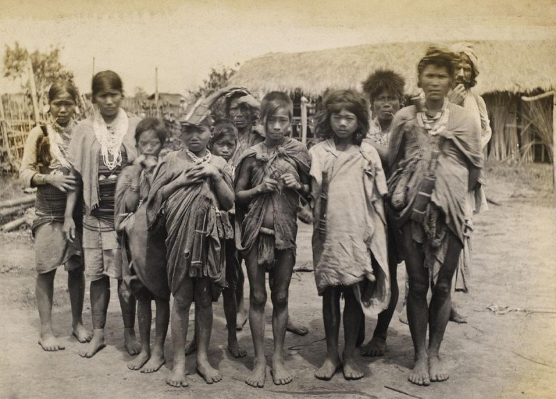 Group of Tribal Hill People - Date Unknown