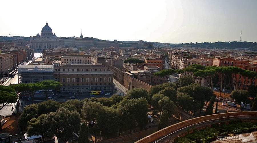 Vaticano visto do Castelo Sant'Angelo, Roma