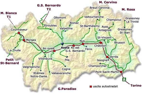 Cartina Fisico Politica Valle D Aosta.Mappa Della Citta Di Provincia Regionale Italia Cartina Politica Della Valle D Aosta