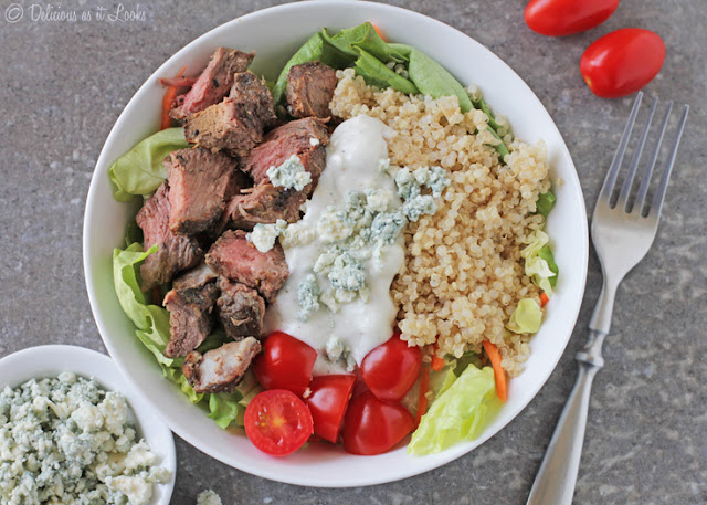 Leftover Steak & Blue Cheese Grain Bowl {Low-FODMAP, Gluten-Free}  /  Delicious as it Looks