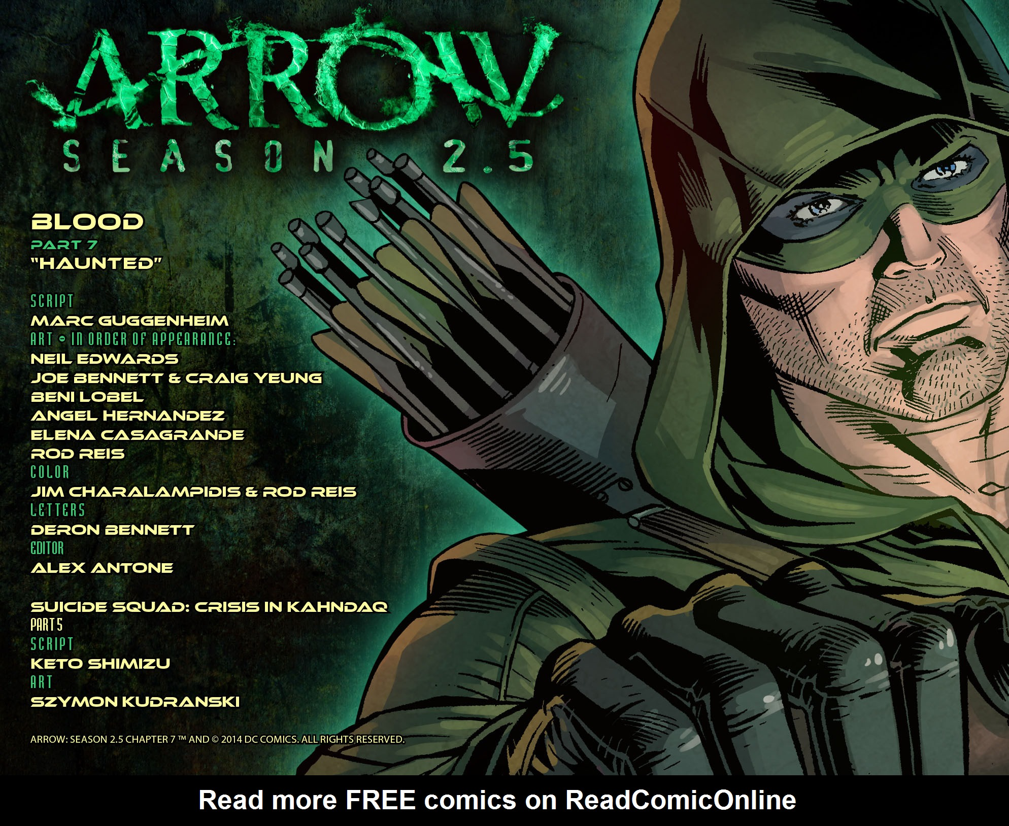 Read online Arrow: Season 2.5 [I] comic -  Issue #7 - 2