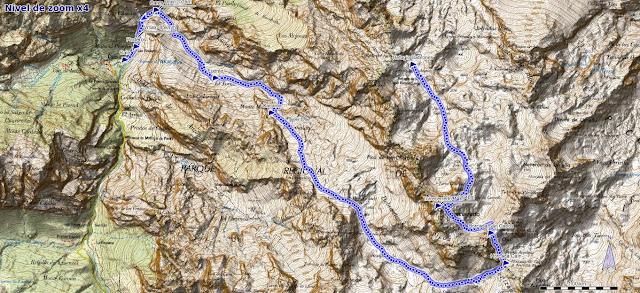 Mapa ruta Cabrones, Torrecerredo, Dobresengos, Caín