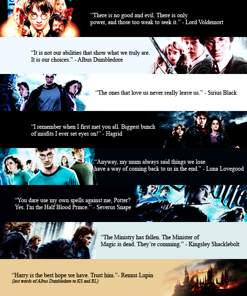 Ink, Paint And Harry Potter: Quotes =) [from The Movies]