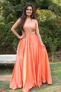 Actress Sakshi in beautiful orange Anarkali Dress Spicy Pics    026.jpg