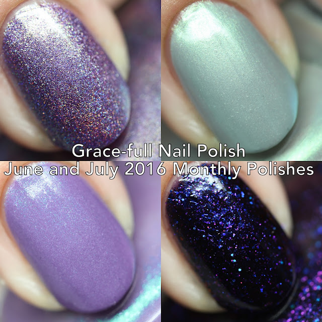 Grace-full Nail Polish's June and July Monthly Polishes