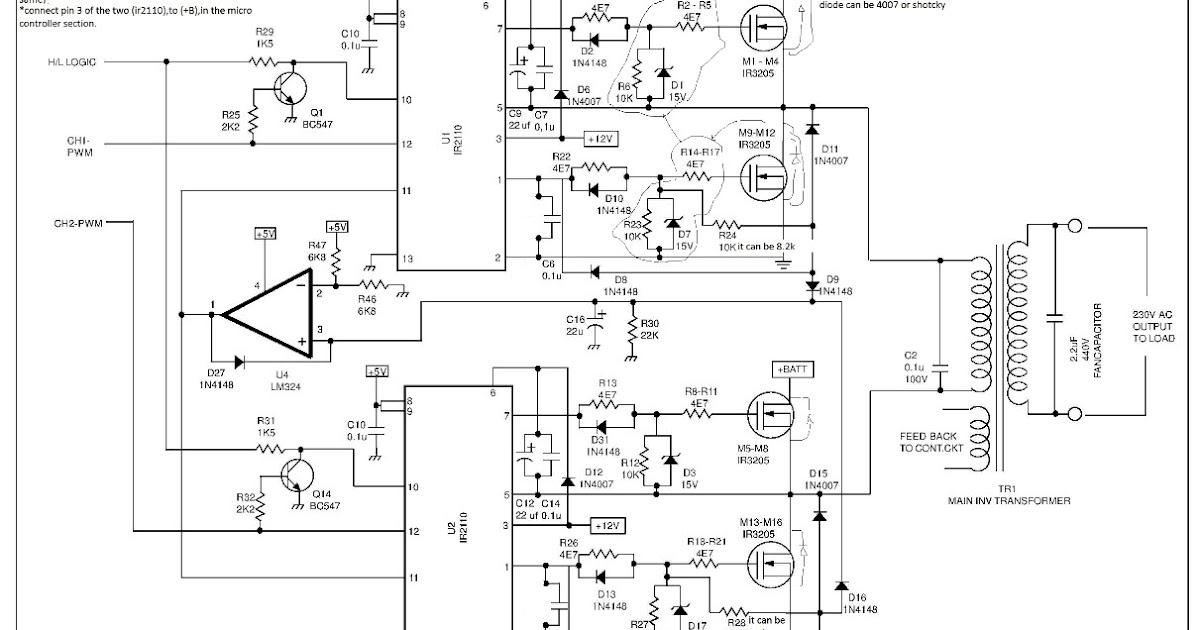 Inverter Circuit Diagram Using Pic16f72