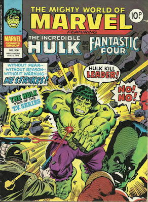 Mighty World of Marvel #306, Hulk vs the Leader