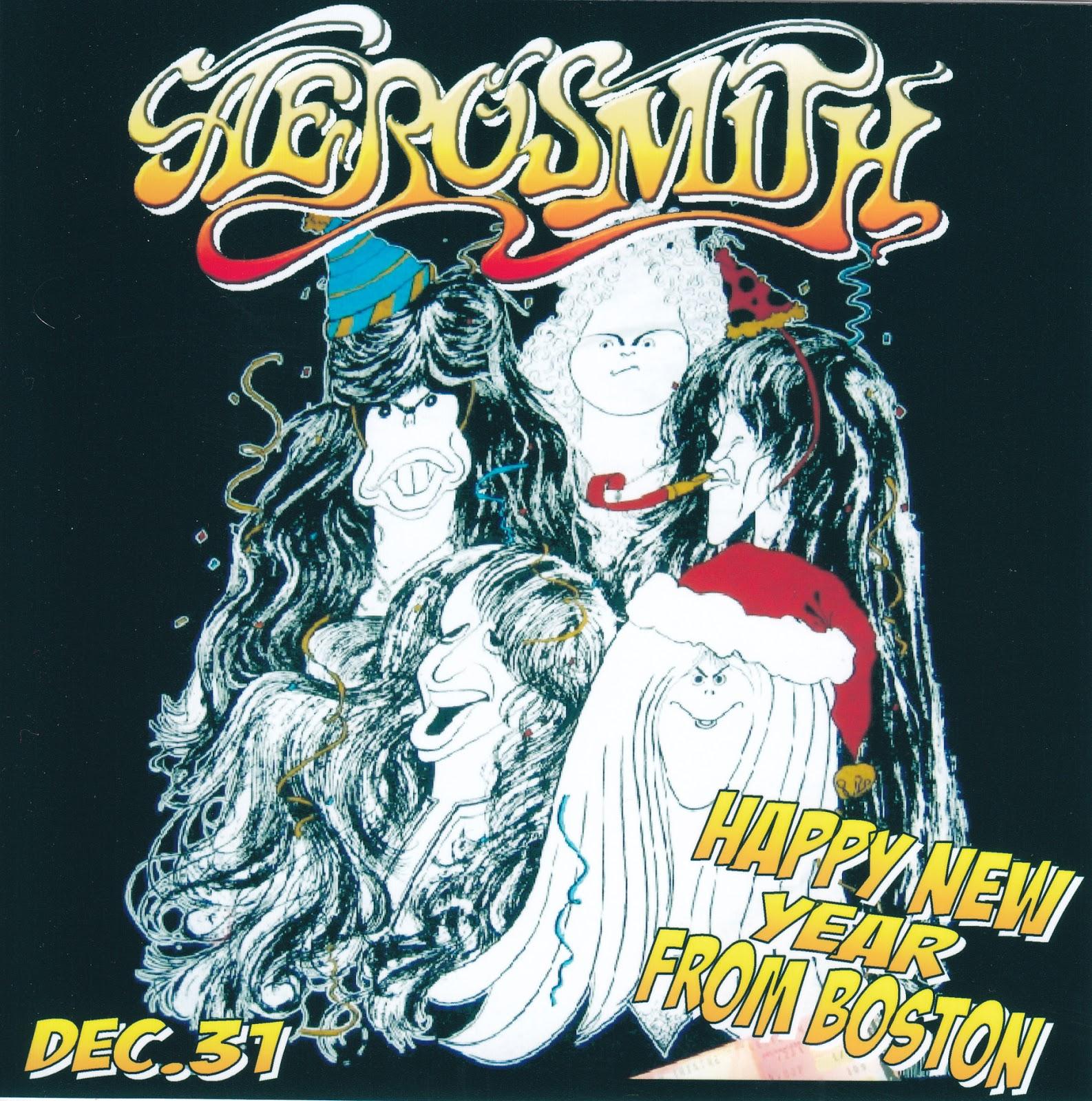 Aerosmith Bootlegs Cover Arts Happy New Year From Boston