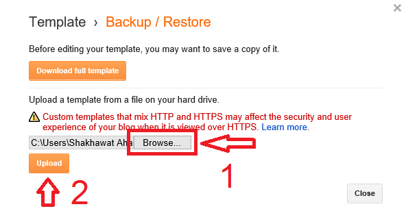 How To Restore Blogger Template?