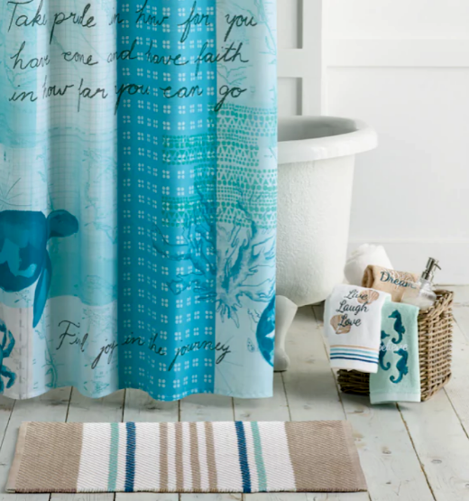 Blue Coastal Bath Collection