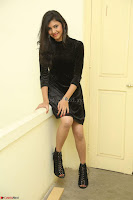 Mounika in a velvet short black dress for Tick Tack Movie Press Meet March 2017 085.JPG