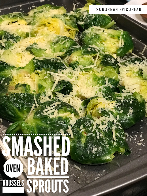 SMASHED Oven Baked Brussels Sprouts
