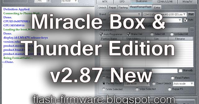 Download Miracle Box & Thunder Tool v 2 87 New Full Setup