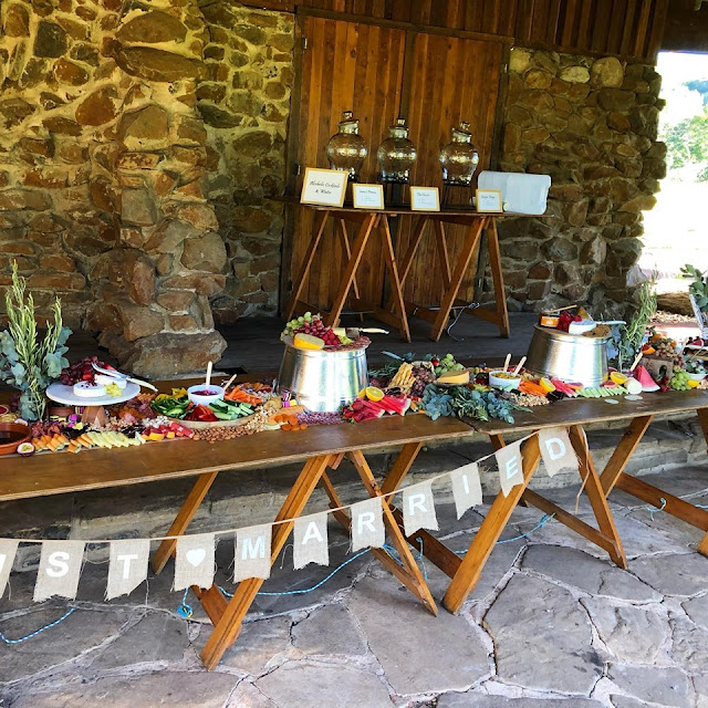 byron bay wedding grazing tables catering boards food