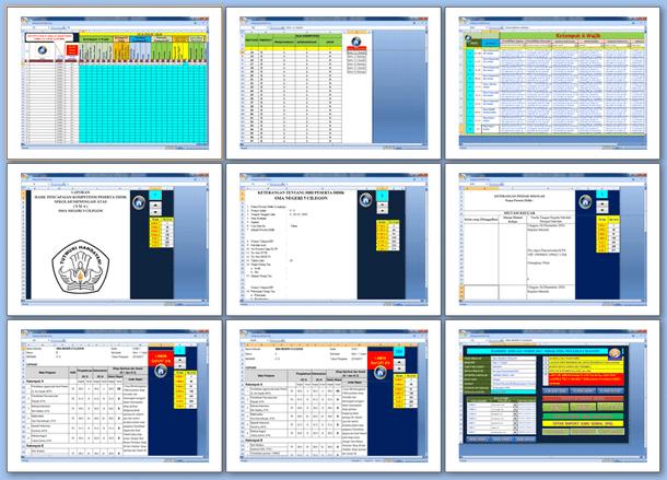 Aplikasi Raport Kurikulum 2013 SMA Versi 2017 Format Microsoft Excel
