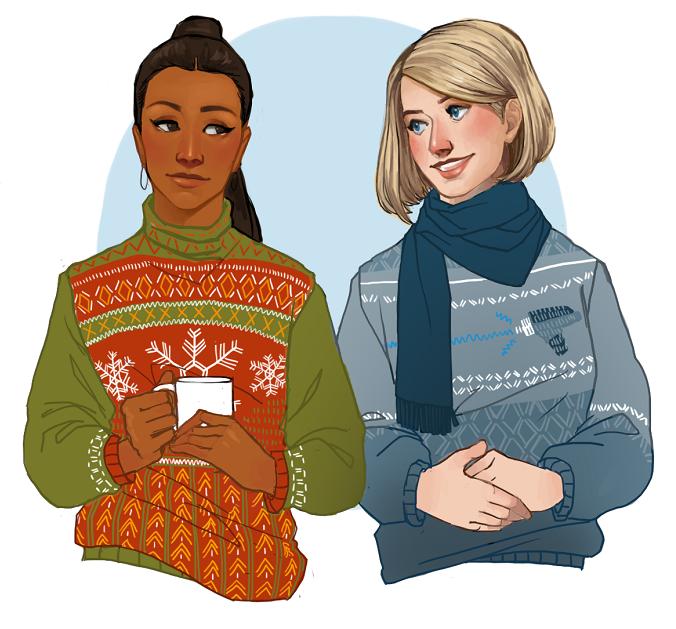 artwork star trek christmas sweaters by groovyfass