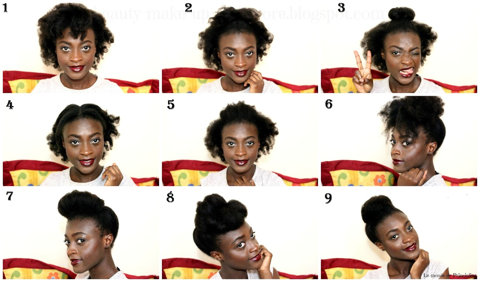 9 Idees De Coiffures Simple Sur Cheveux Crepus Court Ou Mi Long Le