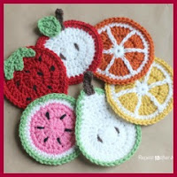 posavasos frutas crochet