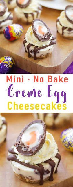 No Bake Mini Creme Egg Cheesecake
