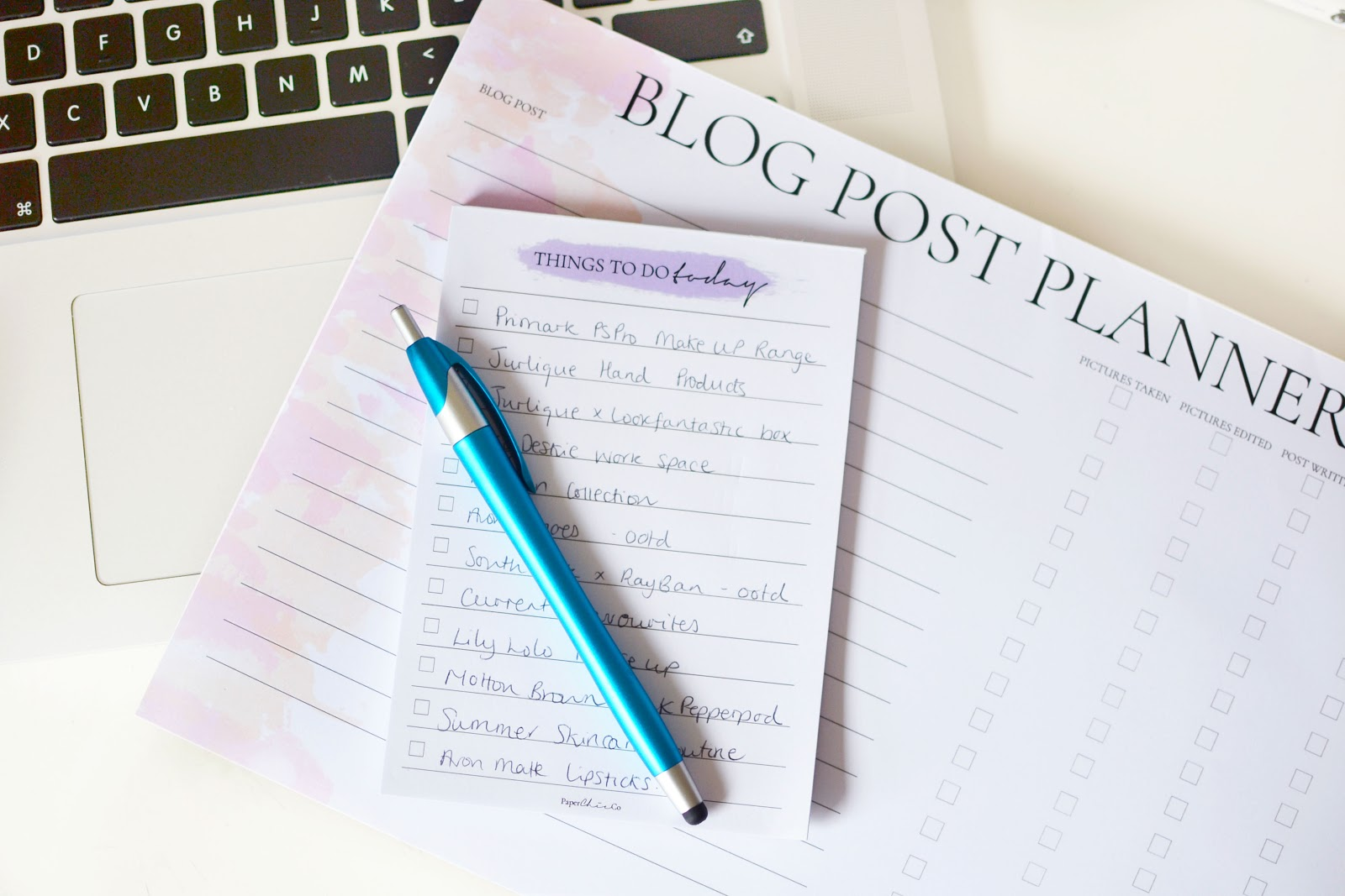 blogger stationery, notepads