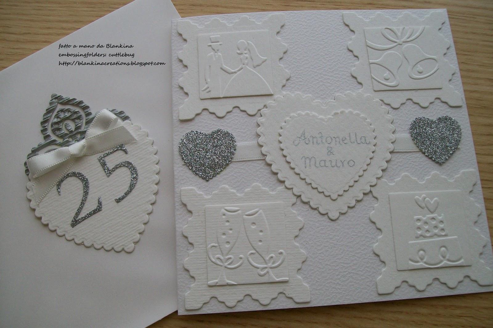Blankina creations anniversario 25 anni di matrimonio for Anniversario matrimonio 25