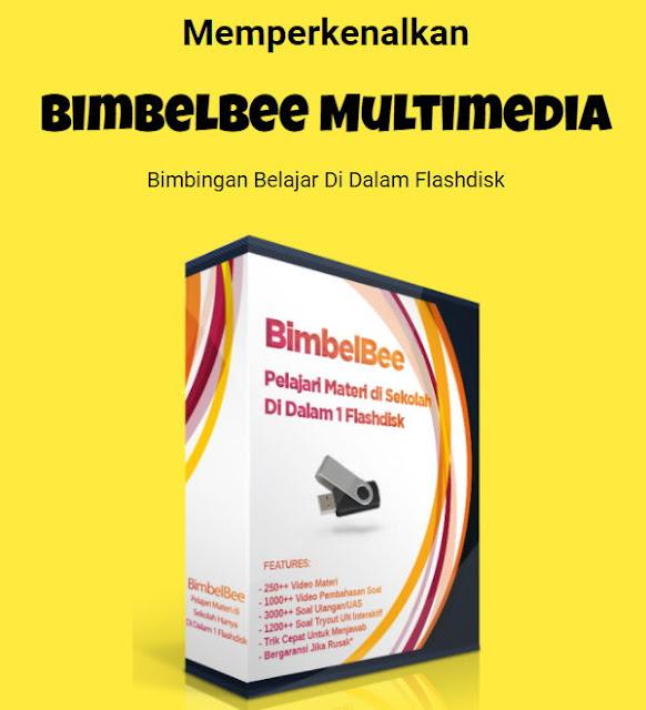 Bimbelbee multimedia bimbingan belajar di komputer laptop
