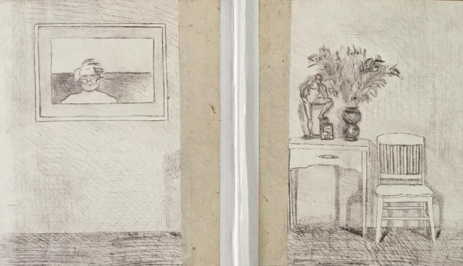 Dry Point Press: Handmade portfolio/ collage, closed