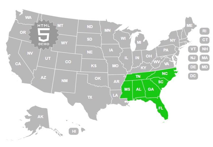 Us States Image Map Html Maps Wcms Template Feature Gallery Cdc