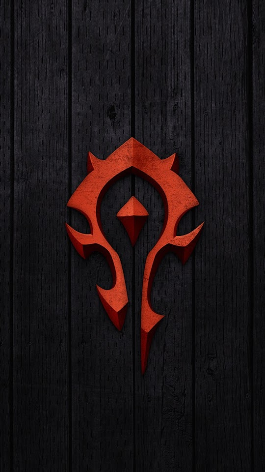 Red World of Warcraft Horde Badge   Galaxy Note HD Wallpaper