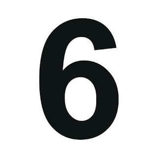 cyfra 6 do druku